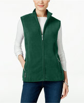 Karen Scott Petite Fleece Vest, Only at Macy's