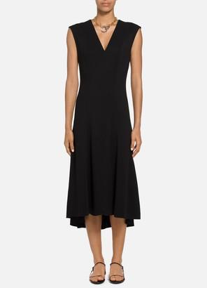 St. John Viscose Cady V-Neck HiLo Dress