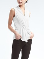 Banana Republic Twist-Front Drapey Sleeveless Top