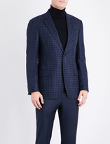 Armani Collezioni Checked silk and wool-blend jacket