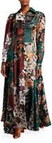 Evi Grintela Evanthia Silk Twill Scarf-Print Shirtdress