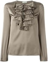 P.A.R.O.S.H. ruffled front top