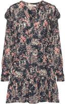 Etoile Isabel Marant Jedy Ruffle-trimmed Printed Georgette Mini Dress