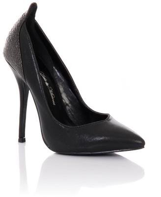 Little Mistress Footwear Black Pointed Court Stilettos