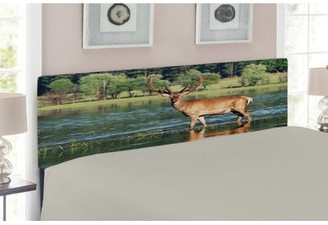 East Urban Home Deer Queen Upholstered Panel Headboard Size: Twin