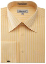 Sunrise Outlet Men's Herringbone French Cuff Shirt - 18.5 34-35