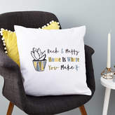 Tillie Mint Loves Personalised New Home Cactus Cushion