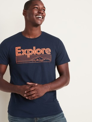 Old Navy Graphic Soft-Washed Crew-Neck Tee for Men