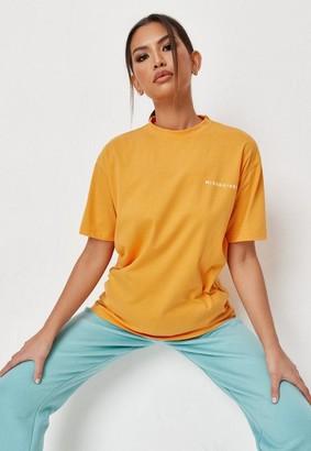 Missguided Orange Oversized T Shirt