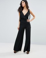 Oh My Love Bow Shoulder Jumpsuit