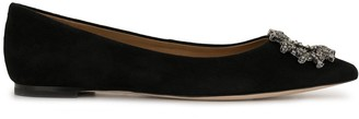Tory Burch Crystal Buckle Loafers
