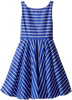Polo Ralph Lauren Yarn-Dyed Cotton Sateen Stripe Dress (Little Kids)