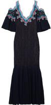 Peter Pilotto Crochet-trimmed Stretch-lace Midi Dress - medium