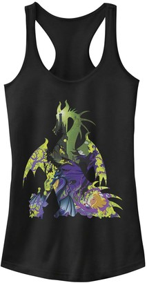 Disney Juniors' Disney's Sleeping Beauty Maleficent Dragon Silhouette Tank Top