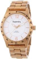 Superdry SYL124RGM-Women's Watch Analogue Quartz White Dial Steel Bracelet-Pink