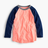 J.Crew Boys' three-quarter-sleeve baseball T-shirt in the softest jersey