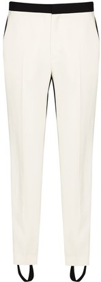Wardrobe NYC x Browns 50 two tone slim leg trousers
