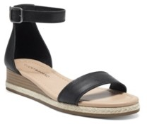 Lucky Brand Women's Westae Ankle-Strap Wedge Sandals Women's Shoes