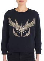 Alexander McQueen Embellished Long Sleeve Sweatshirt