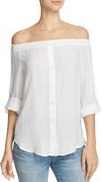 Bella Dahl Off-the-Shoulder Shirt