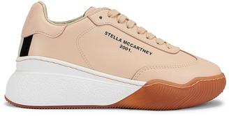 Stella McCartney Runner Loop Sneakers in Beige & White   FWRD