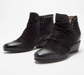 Miz Mooz Leather Studded Ankle Boots - Leon