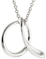 "Women's Silver Plated Letter ""A"" Pendant - Silver (18"")"