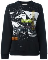 Christopher Kane embellished printed sweatshirt - women - Cotton/Aluminium/Swarovski Crystal - S