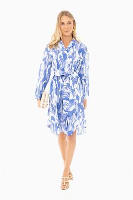 Odeeh Cobalt Watercolor Shift Dress