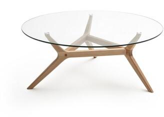 Am.pm. Maricielo Glass & Oak Coffee Table