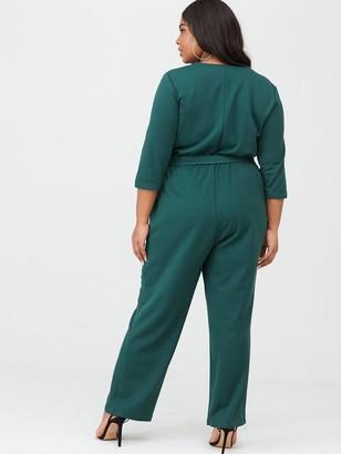 Junarose Teva Three-Quarter Sleeve Jumpsuit