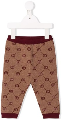 Gucci Kids logo knitted trousers