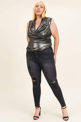 Celebrity Pink Plus size distressed jeans