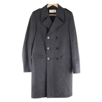 Saint Laurent Grey Wool Coats