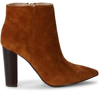 Saks Fifth Avenue Annie Stacked Heel Booties