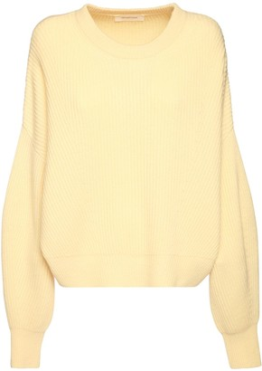 Sportmax Over Rib Knit Cashmere & Wool Sweater