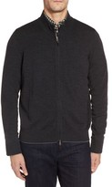 Thomas Dean Men's Merino Blend Full Zip Cardigan