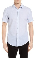 BOSS Men's Robbie Slim Fit Dot Print Sport Shirt