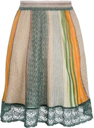 Missoni Striped Glitter-Embellished Skirt
