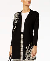 Alfani Open-Front Intarsia Cardigan, Created for Macy's