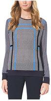 Michael Kors Geometric-Knit Top