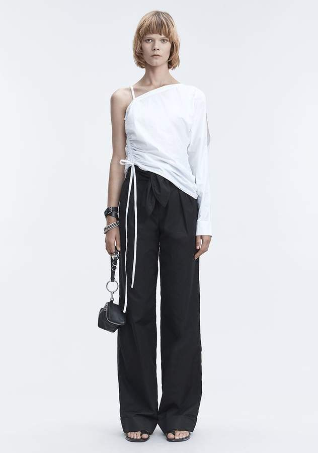 Alexander Wang ONE SLEEVE RUCHED TOP TOP