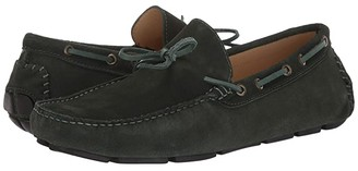 Massimo Matteo Suede Tie Driver (Military Green Suede) Men's Shoes