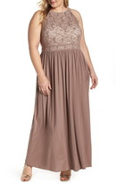 Morgan & Co. Lace Bodice Evening Dress