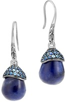 John Hardy Sterling Silver Classic Chain Celestial Orb Sodalite Drop Earrings with Sapphire