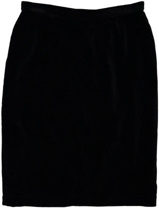 Thierry Mugler Black Cotton Skirt for Women Vintage