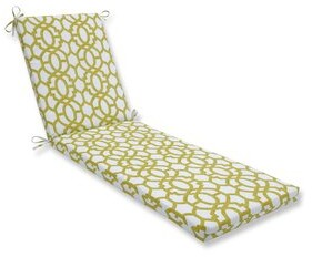 Alcott Hill Geo Indoor/Outdoor Chaise Lounge Cushion Fabric: Green