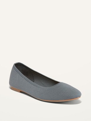 Old Navy Knit Almond-Toe Ballet Flats for Women
