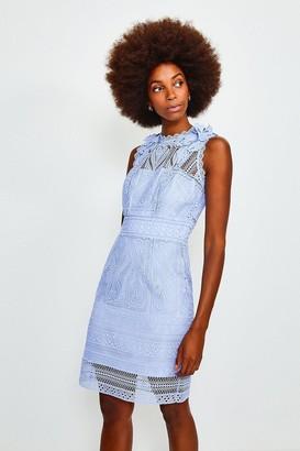 Karen Millen Chemical Lace Sleeveless Dress