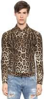 Dolce & Gabbana Leo Print Stretch Cotton Drill Jacket